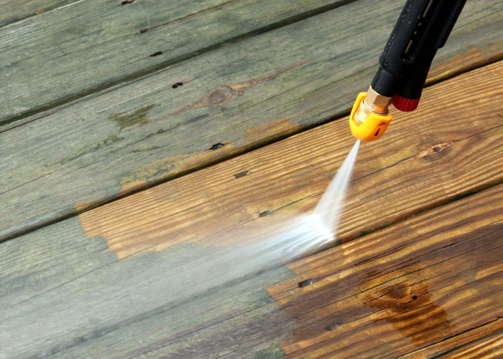 Before And After Power Washing Decking