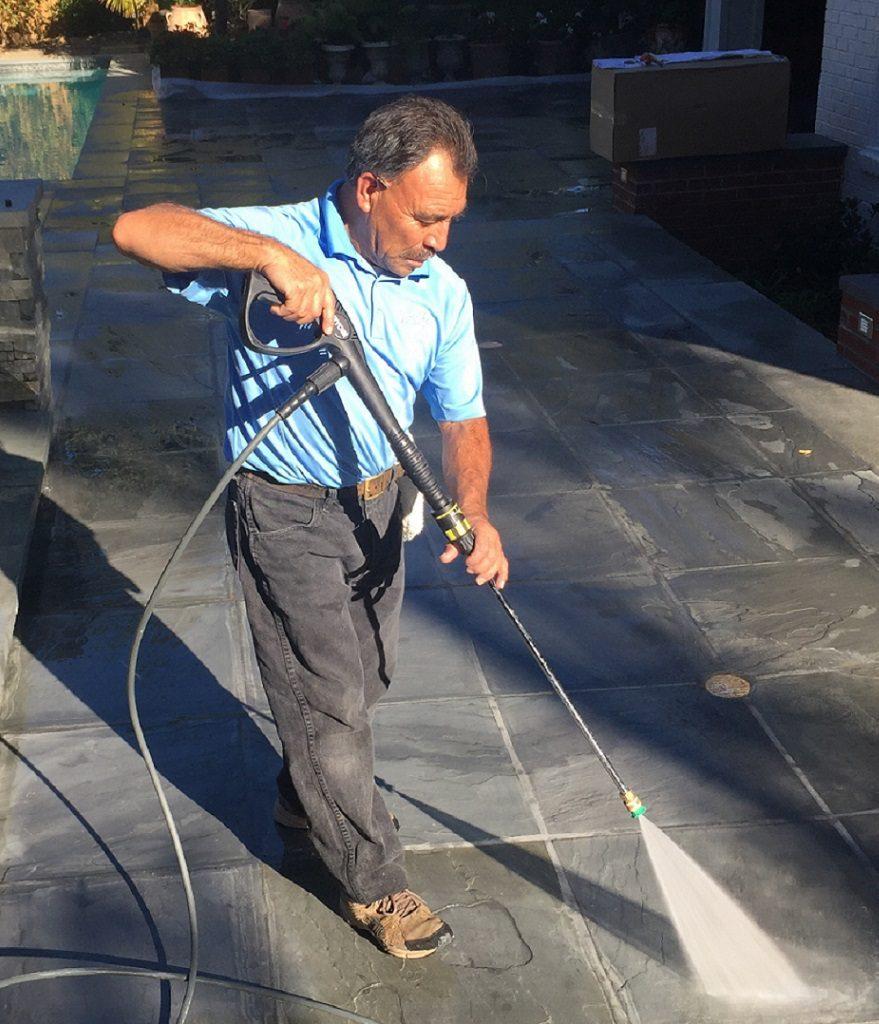 Man Power Washing Cropped